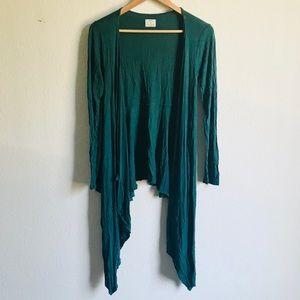 Pins & Needles green long front cardigan M